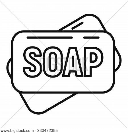 Survival Soap Icon. Outline Survival Soap Vector Icon For Web Design Isolated On White Background
