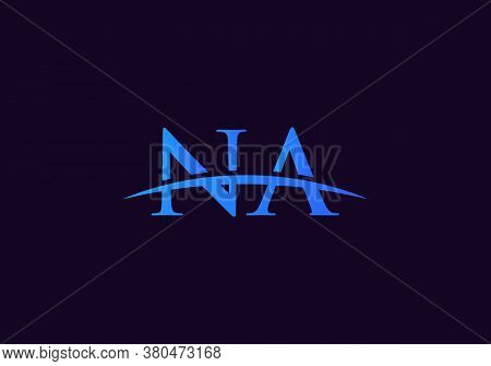Na Logo For Business And Company Identity. Creative Letter Na Logo Vector Template.