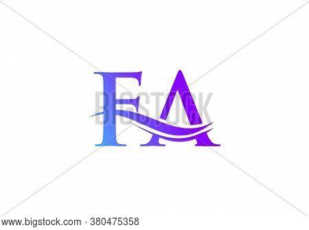 Fa Logo For Business And Company Identity. Creative Letter Fa Logo Vector Template.