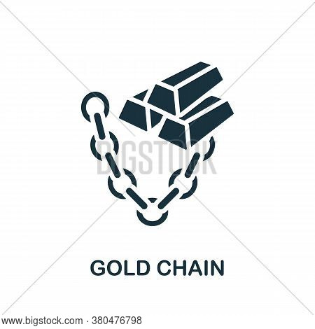 Gold Chain Icon. Simple Element From Jewelery Collection. Creative Gold Chain Icon For Web Design, T