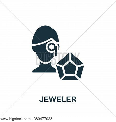 Jeweler Icon. Simple Element From Jewelery Collection. Creative Jeweler Icon For Web Design, Templat