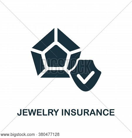 Jewelry Insurance Icon. Simple Element From Jewelery Collection. Creative Jewelry Insurance Icon For