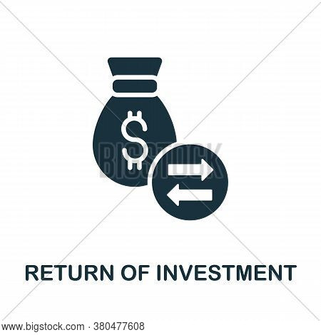 Return Of Investment Icon. Simple Element From Investment Collection. Creative Return Of Investment