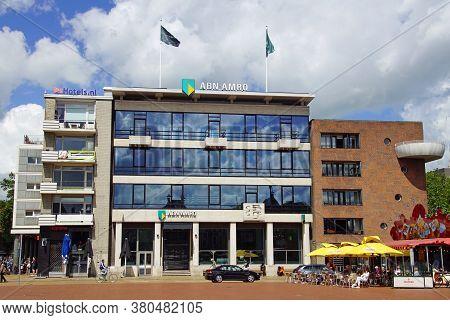 Groningen, The Netherland - July 26, 2020: Abn Amro Bank Building In The City Center Of Groningen.