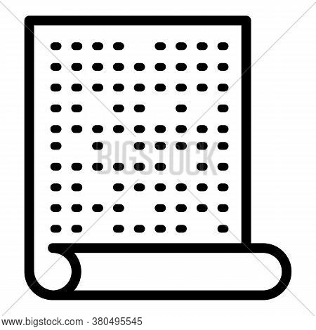 Inclusive Education Blind Paper Text Icon. Outline Inclusive Education Blind Paper Text Vector Icon