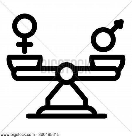 Equal Balance Empowerment Icon. Outline Equal Balance Empowerment Vector Icon For Web Design Isolate