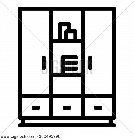 Wardrobe Dressing Room Icon. Outline Wardrobe Dressing Room Vector Icon For Web Design Isolated On W