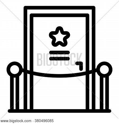 Actor Dressing Room Door Icon. Outline Actor Dressing Room Door Vector Icon For Web Design Isolated