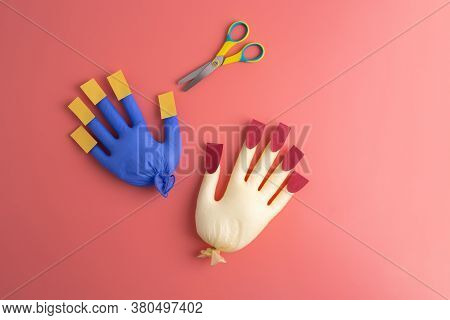 Craft For Develop Scissors Skill For Kids, Creative Activity Ideas, Paper Nails, Cutting Activity Fo