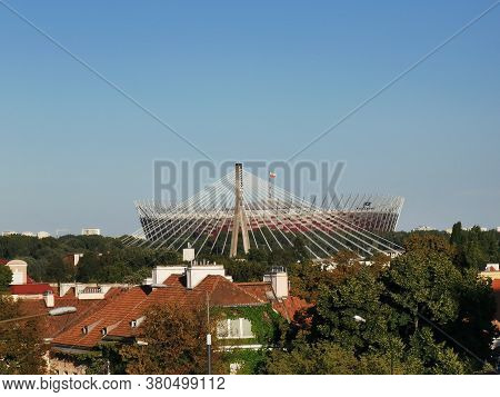 National Stadium In Warsaw. Pge. Poland, 2020. The Photo Was Taken On August 11, 2020 With Huawei P3