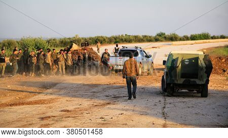 Aleppo, Syria, 26 March 2017:\nsoldiers From The Turkish Army Alongside The Syrian Opposition Fighte