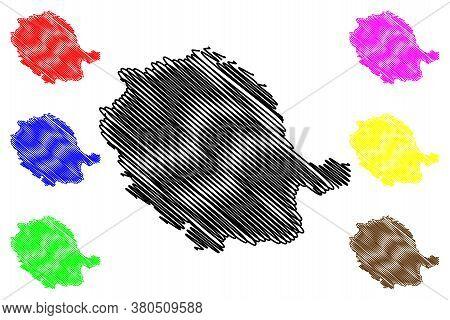 Tarn Department (france, French Republic, Occitanie Or Occitania Region) Map Vector Illustration, Sc
