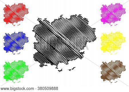 Var Department (france, French Republic, Provence-alpes-cote Dazur Region) Map Vector Illustration,