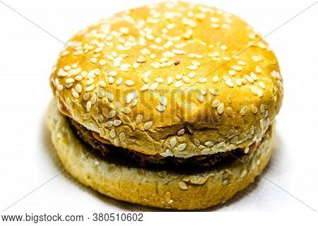 A Picture Of Veg Burger With White Background
