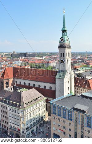 Top-view Of The Old Munich In A Sunny Summer Day