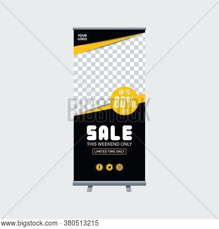 Abstract Shapes Modern Exhibition Advertising Trend Business Roll Up Banner Stand Poster Brochure Fl