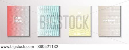 Folded Minimal Cover Vector Set. Cool Technology Background. Modern Flyer Graphic Design. Glam Magaz