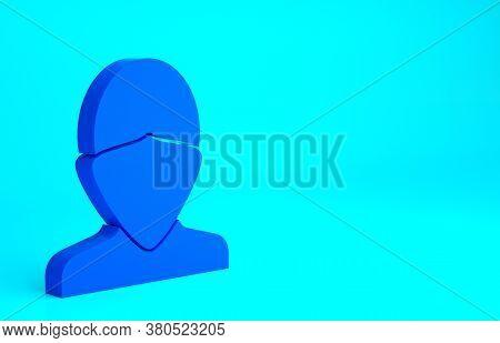 Blue Vandal Icon Isolated On Blue Background. Minimalism Concept. 3d Illustration 3d Render