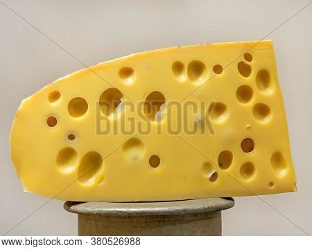 Big Piece Of Emmental Cheese Swiss Cuisine