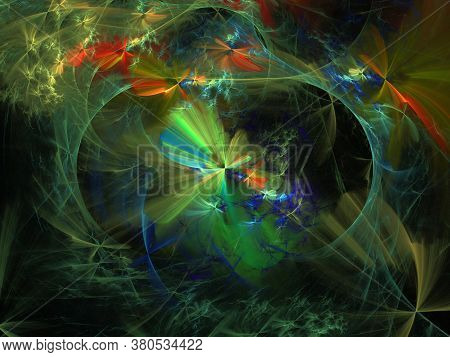 Imaginatory Lush Fractal Texture Generated Image Abstract Background