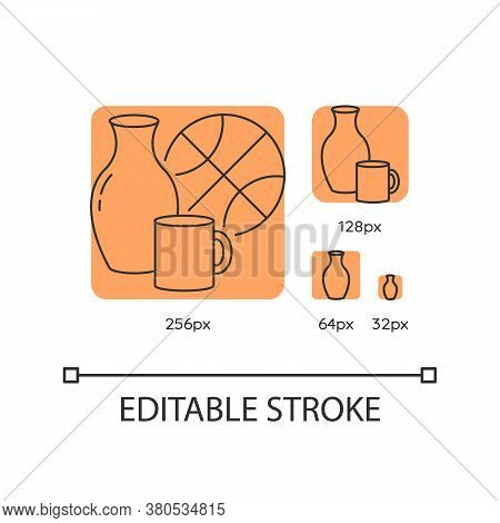 Miscellaneous Orange Linear Icons Set. Various Supermarket Items. Grocery Store Category. Thin Line