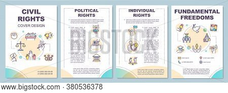 Civil Rights Brochure Template. Political And Individual Rights. Flyer, Booklet, Leaflet Print, Cove
