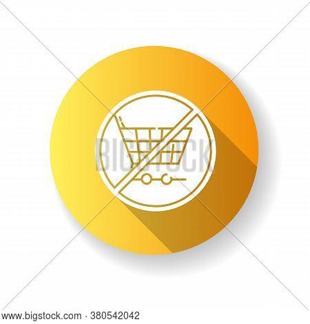 Anti Consumerism Yellow Flat Design Long Shadow Glyph Icon. Sustainable Lifestyle Advice. Responsibl