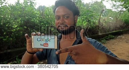 District Katni, India - September 18, 2019: Google You Tube Logo Displayed On Smart Phone Screen By