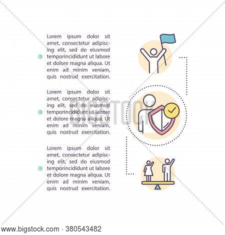 Individual Rights Concept Icon With Text. Human Rights. Gender Equality. Democracy. Empowerment. Ppt