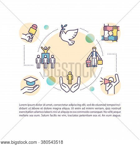 Fundamental Freedoms Concept Icon With Text. Human Rights. Freedom To Movement And Thought. Ppt Page