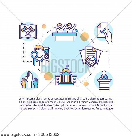 Legislative Documents Concept Icon With Text. Elections. Political Rights And Participation. Ppt Pag