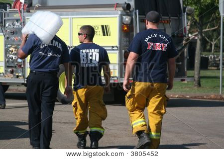 Firefighter Stocking Up