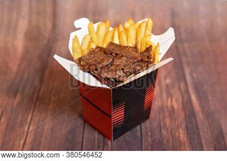 Tasty Box Kebab Doner, Close Up, Tasty Dish