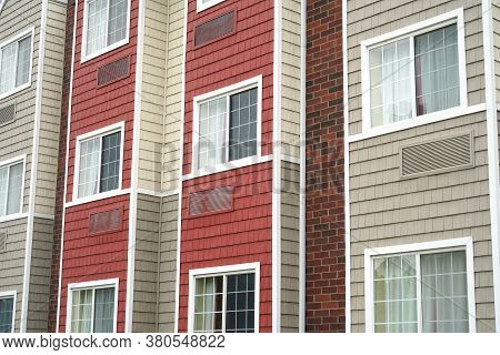 Close Up On Modern Rental Apartment Buildings
