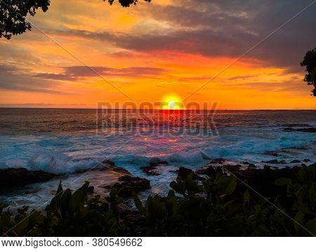 Sunset In Kona, At Hawaii