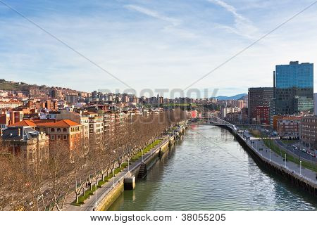 View Of Bilbao, Vizcaya, Spain