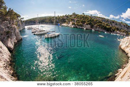 Calanques With Sailingboats
