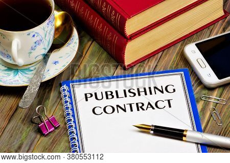 Publishing Agreement - Text Inscription On The Form Of The Document. Transfer Of The Work Created By