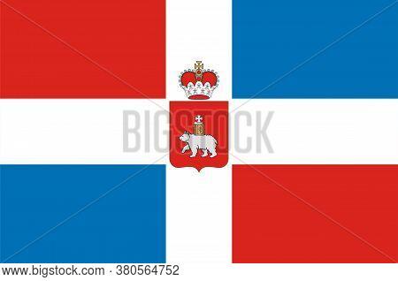 Flag Of Perm Krai Of Russian Federation