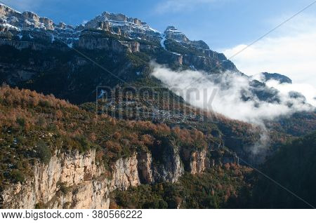 Viandico Ravine And The Sestrales In The Ordesa And Monte Perdido National Park.