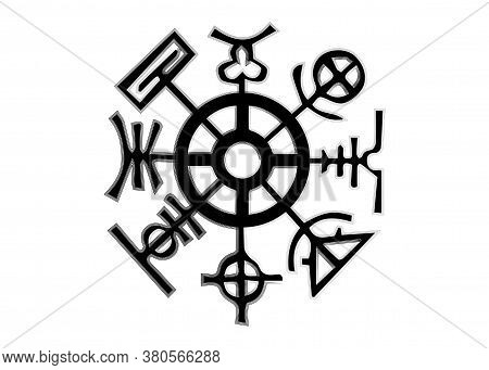 Rhumb Of Heaven. Symbol Composed Of Eight Signs Taken From A French Calendar. It Represents The Eigh
