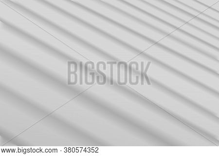 White Wall With Shadow From Window And Jalousie, Beam Light And Shadow Texture. Shadow Overlay Effec