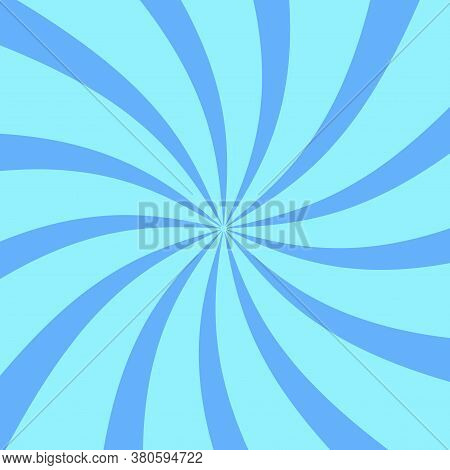 Background From Blue Spirals. Vector Image Of A Whirlpool. Rotation Pattern. Vintage Swirl.