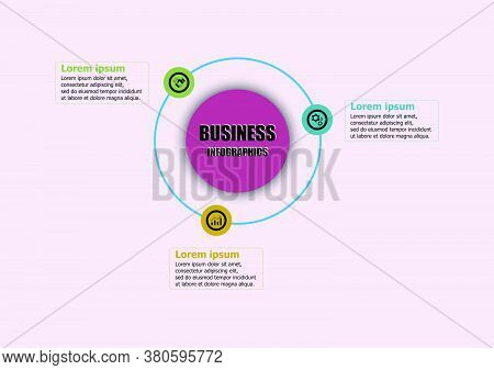 Circle Vector Design Template Icon For Illustration. Planning Infographic Design Business Infographi