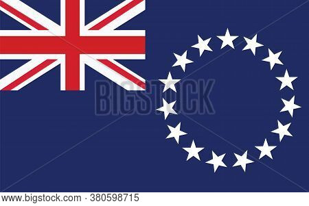 Cook Islands Flag Vector Graphic. Rectangle Cook Islander Flag Illustration. Cook Islands Country Fl