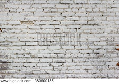 White Old Grunge Brick Wall Textured Backdrop