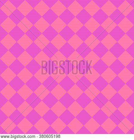 Pink Rhombuses Seamless Pattern. Vector Geometric Illustration.