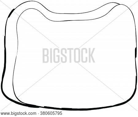 Flat Doodle Drawing Image Of Bread, Vector Illustration