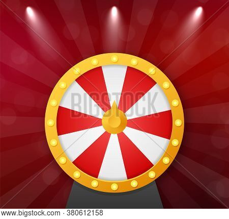 Roulette 3d Fortune. Wheel Fortune For Game And Win Jackpot. Online Casino Concept. Internet Casino