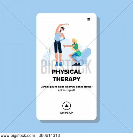 Physical Therapy After Amputation Limb Vector Illustration